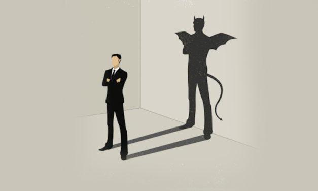 Veja o diabo, não a pessoa