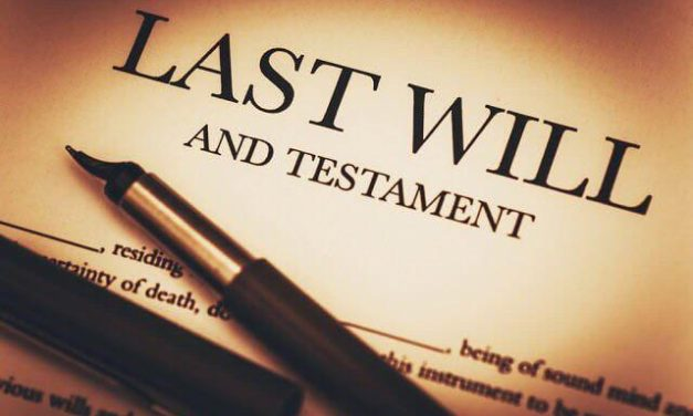 O último desejo e o testamento