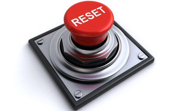 O botão de reinicialização